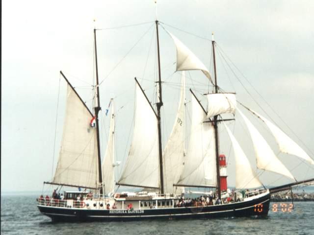 Die Hansesail 2002 war schon ein Erlebnis.